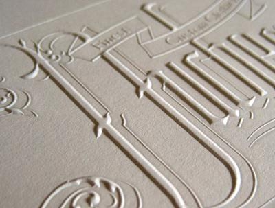 emboss finish printing