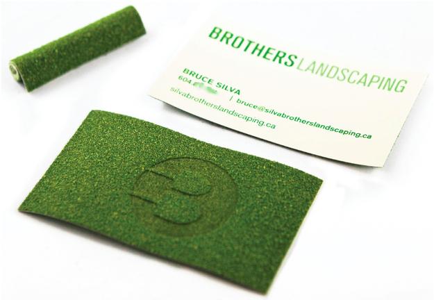 unique print finish business card